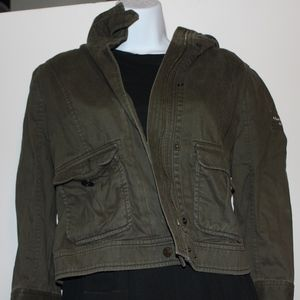 ABERCROMBIE AND FITCH OLIVE GREEN UTILITY JACKET